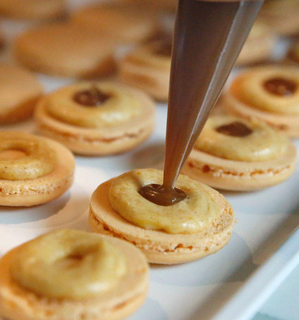 Kristen Massad makes macarons.