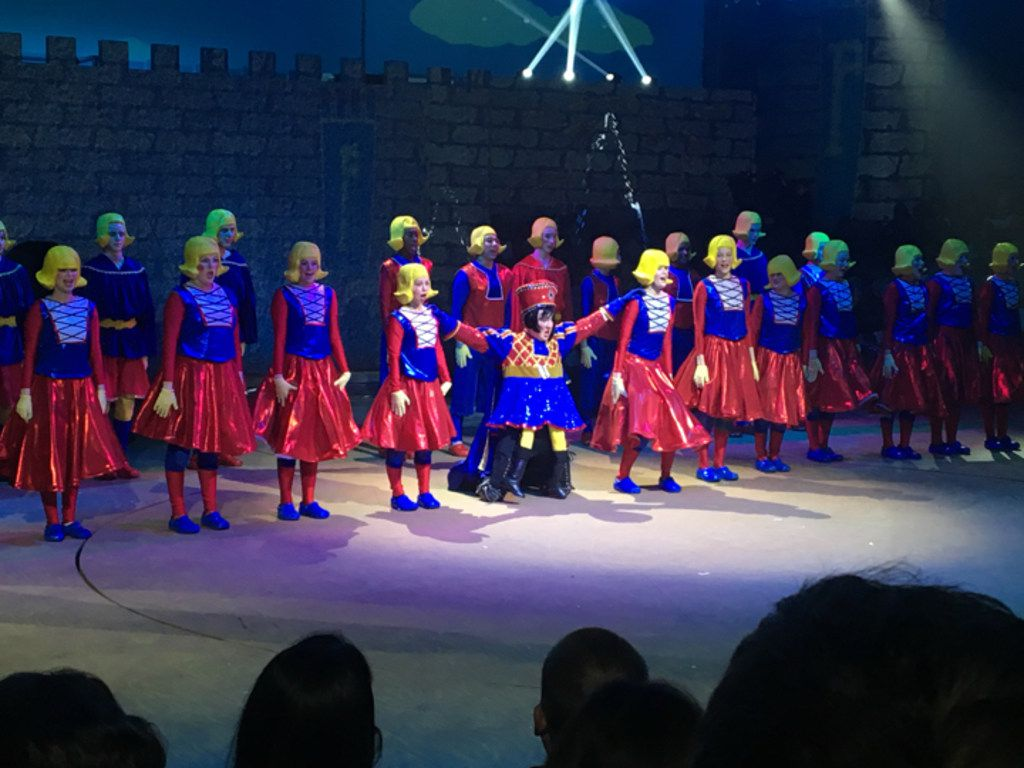 Shrek,  presented by Grapevine Faith Christian School in Grapevine, was one of the eight nominees for Best Musical in the seventh annual Dallas Summer Musicals High School Musical Theatre Awards.