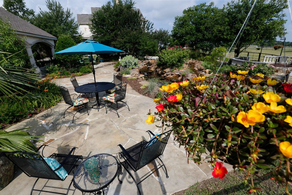 One of the many patios at Golden Farms.