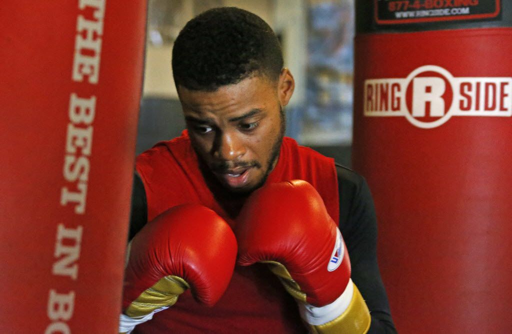 Local boxer Errol Spence Jr. is pictured while training at the Boxing Gym in Dallas, in advance of his upcoming nationally televised bout. Photographed on Wednesday, November 11, 2015. (Louis DeLuca/The Dallas Morning News)