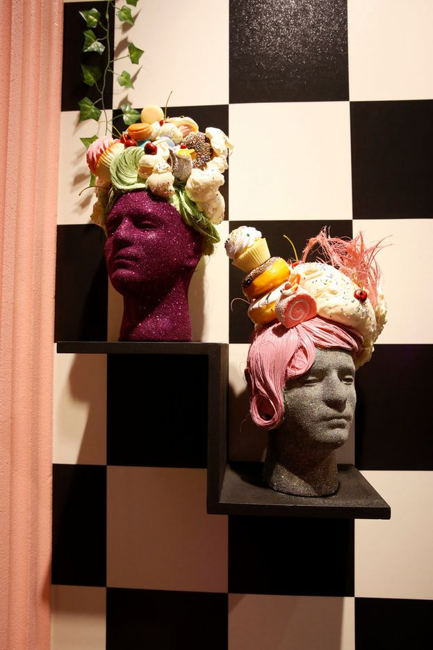 We wish these fascinators made out of cupcakes were in fashion for the royal wedding. Find them in the Sprinkle Spa -- the bathroom at the Sweet Tooth Hotel in Dallas.