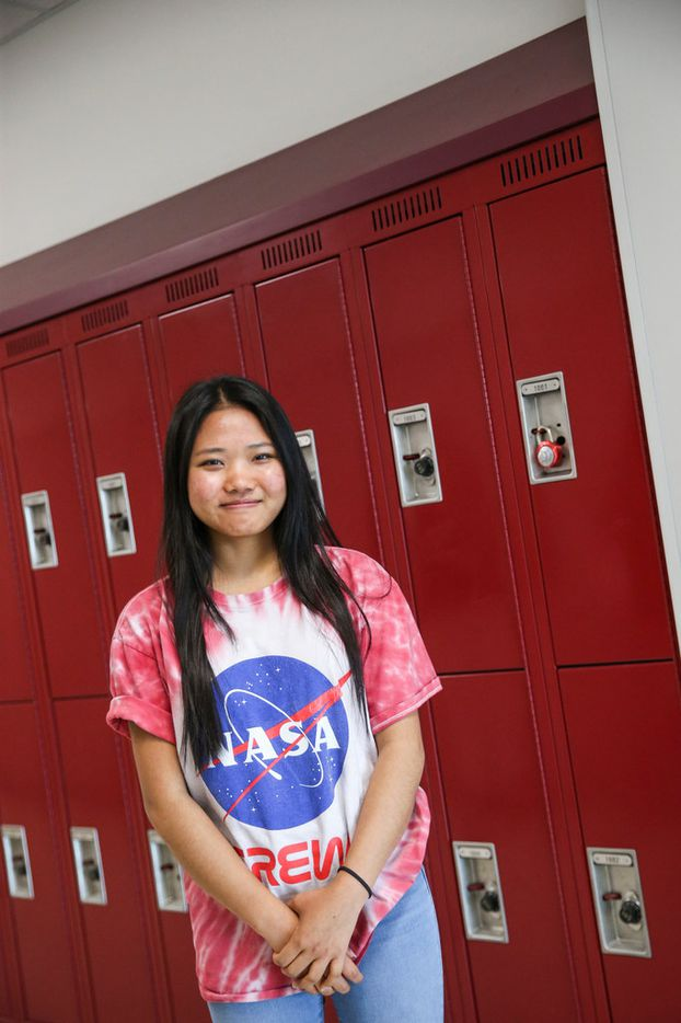 Hanah Sung, a member of the Chin Club, at Lewisville High School, Killough campus, on Tuesday, May 21.
