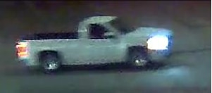 Police released this image of a white pickup they say was involved in the shooting death of Daniel Aleman.