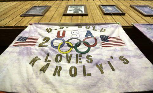 Una bandera en Karolyi Ranch, en New Waverly, Texas, donde entrenaban las gimnastas olímpicas de Estados Unidos. GETTY IMAGES