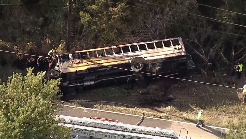 One student has died after a Mesquite ISD school bus rolled into a ditch Wednesday afternoon with 40 students on board, officials said. (NBC 5)