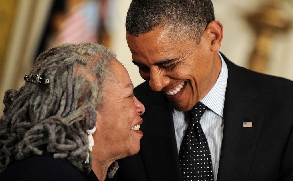 Author Toni Morrison was awarded the Presidential Medal of Freedom from President Barack Obama at the White House in Washington, D.C., on May 29, 2012.