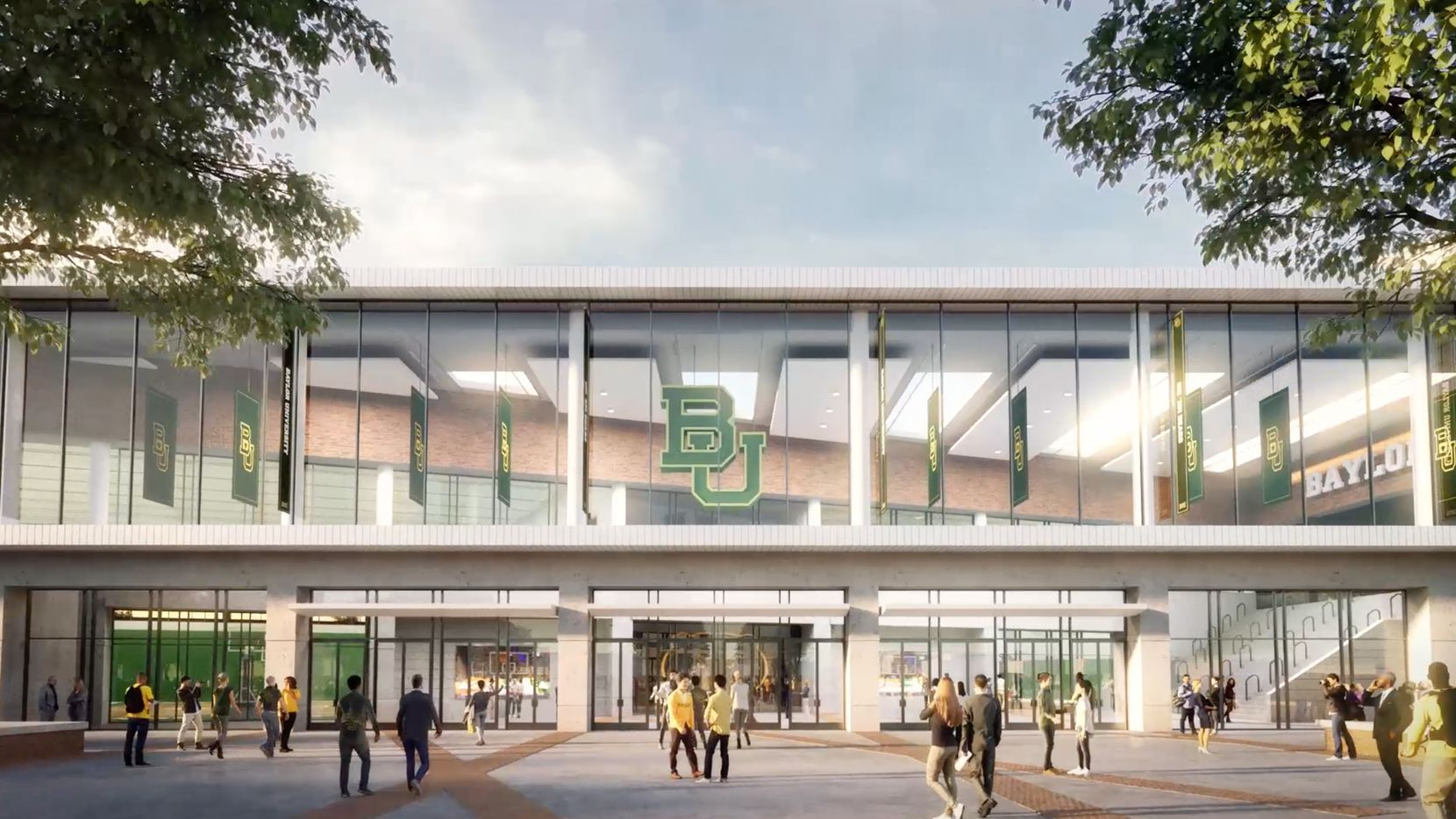 Rendering of Baylor's new basketball arena.