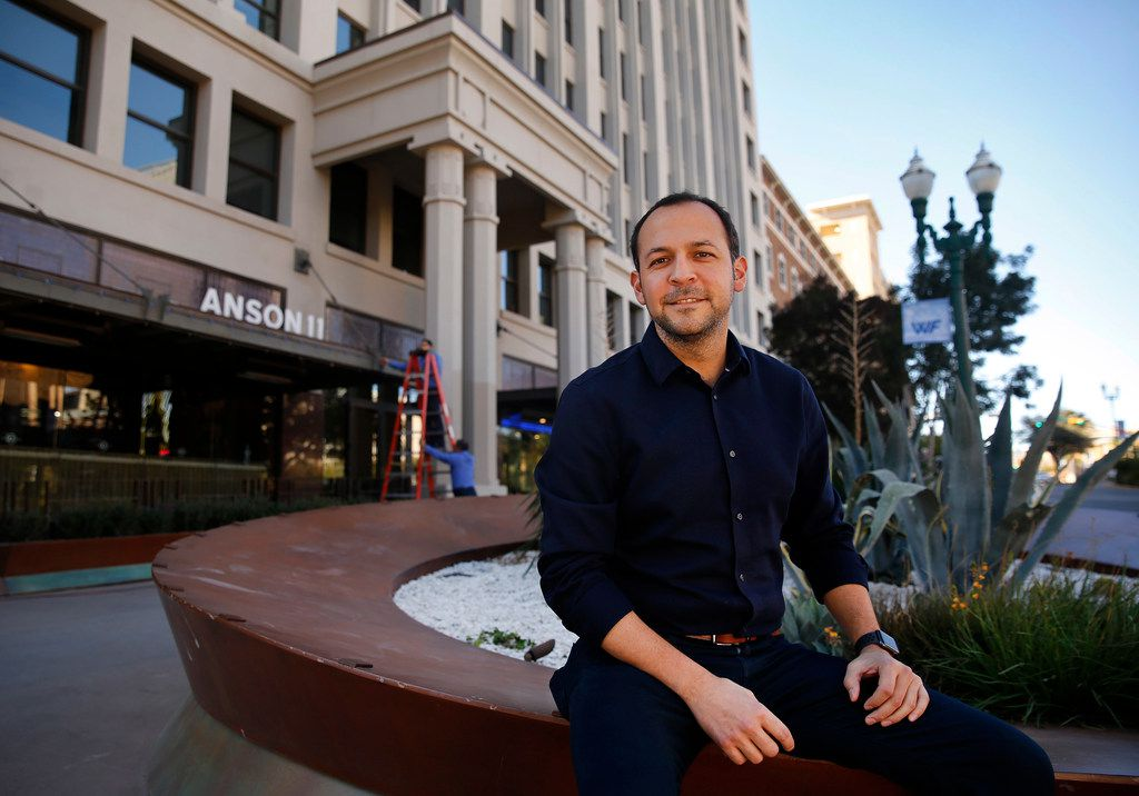 Mario Porras, director of binational affairs at El Paso Community Foundation, in downtown El Paso, which is seeing a renewal of its aging buildings, on Wednesday, November 7, 2018.