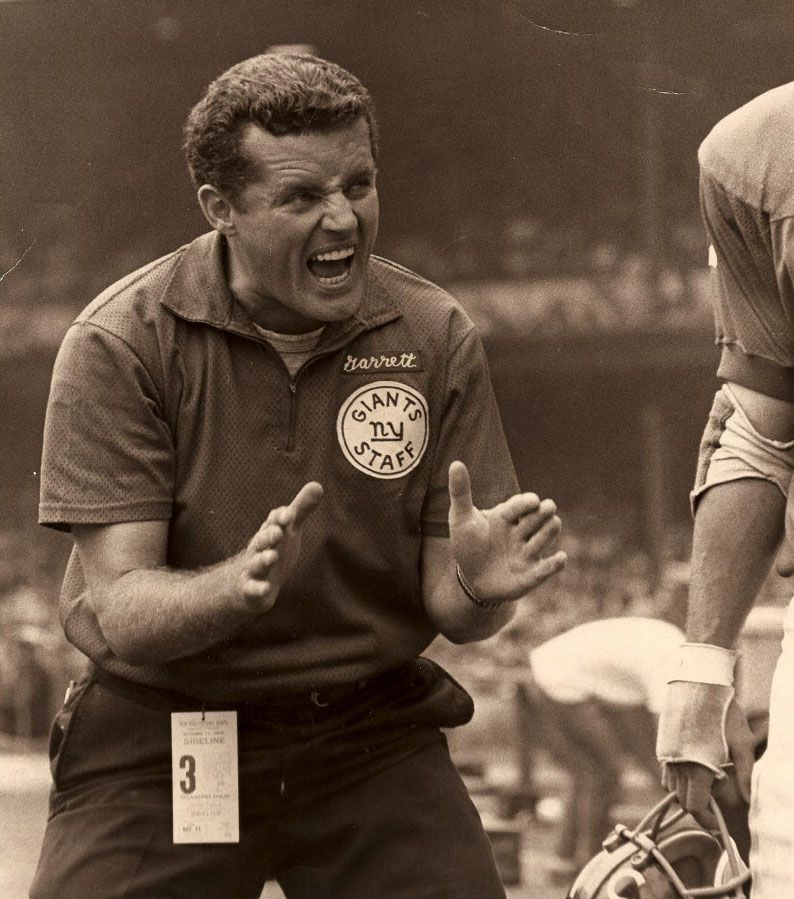 Jason Garrett's father, Jim Garrett (shown here during his days as a Giants coach) Photos courtesy of the Garrett family