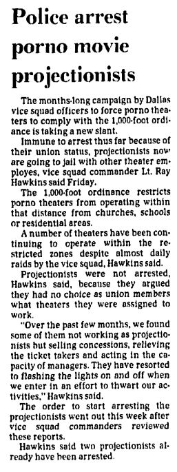 From The Dallas Morning News on August 6, 1977