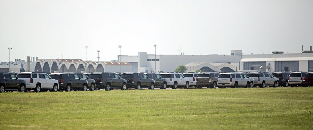 For years there have been new and unused vehicles parked at Hensley Field.