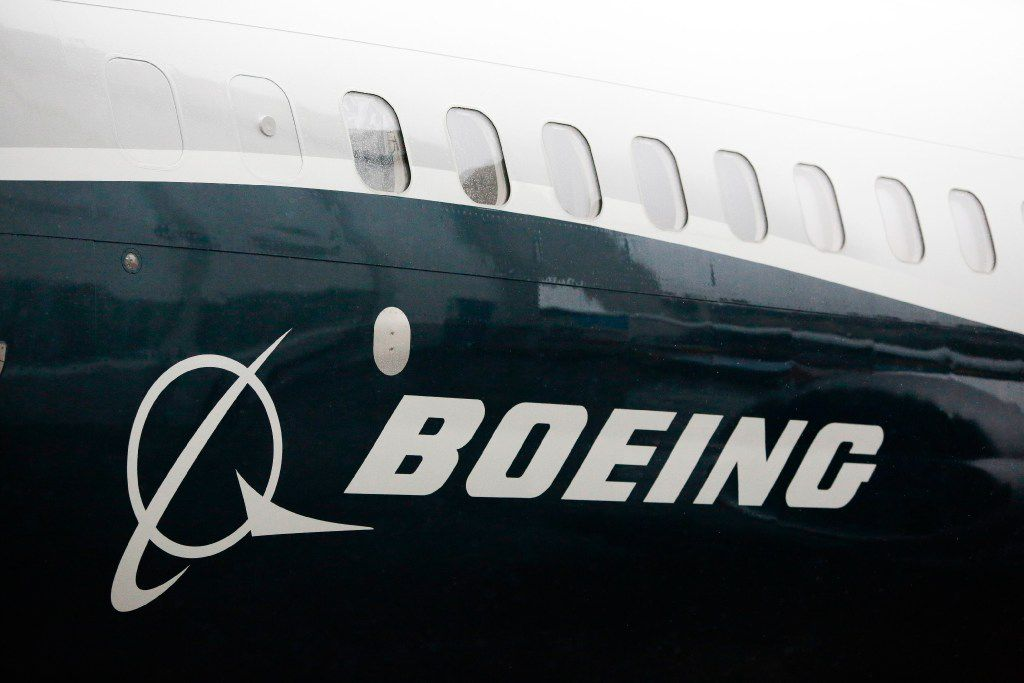 "(FILES) This file photo taken on March 7, 2017 shows the Boeing logo on the Boeing 737 MAX 9 airplane  during its rollout for media at the Boeing factory in Renton, Washington.  US plane maker Boeing said April 4, 2017 that Iran's Aseman Airlines had agreed to buy 30 737 MAX jets for $3.0 billion in its second major deal since sanctions were eased last year.""Boeing confirms the signing of a Memorandum of Agreement (MOA) with Iran Aseman Airlines, expressing the airline's intent to purchase 30 Boeing 737 MAX airplanes with a list price value of $3 billion,"" the US group said in a statement.  / AFP PHOTO / Jason RedmondJASON REDMOND/AFP/Getty Images"