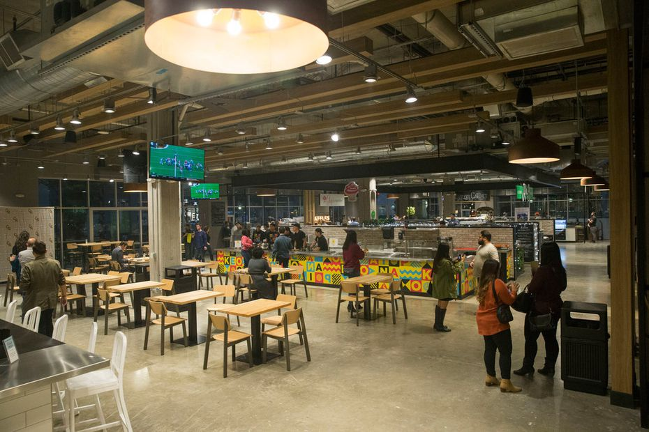 The Food Hall at Crockett Row in Fort Worth opened on Dec. 7, 2018.