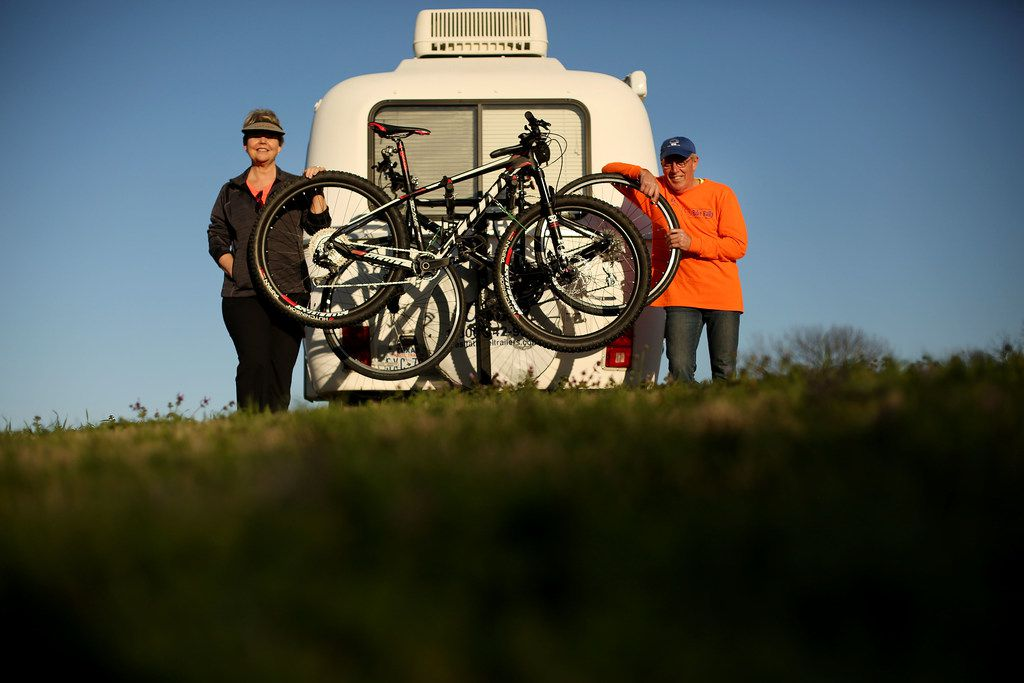 With a bike rack installed on their trailer, Keven Ann Willey and Georges Badoux crossed off one of the many items on their to-do lists.