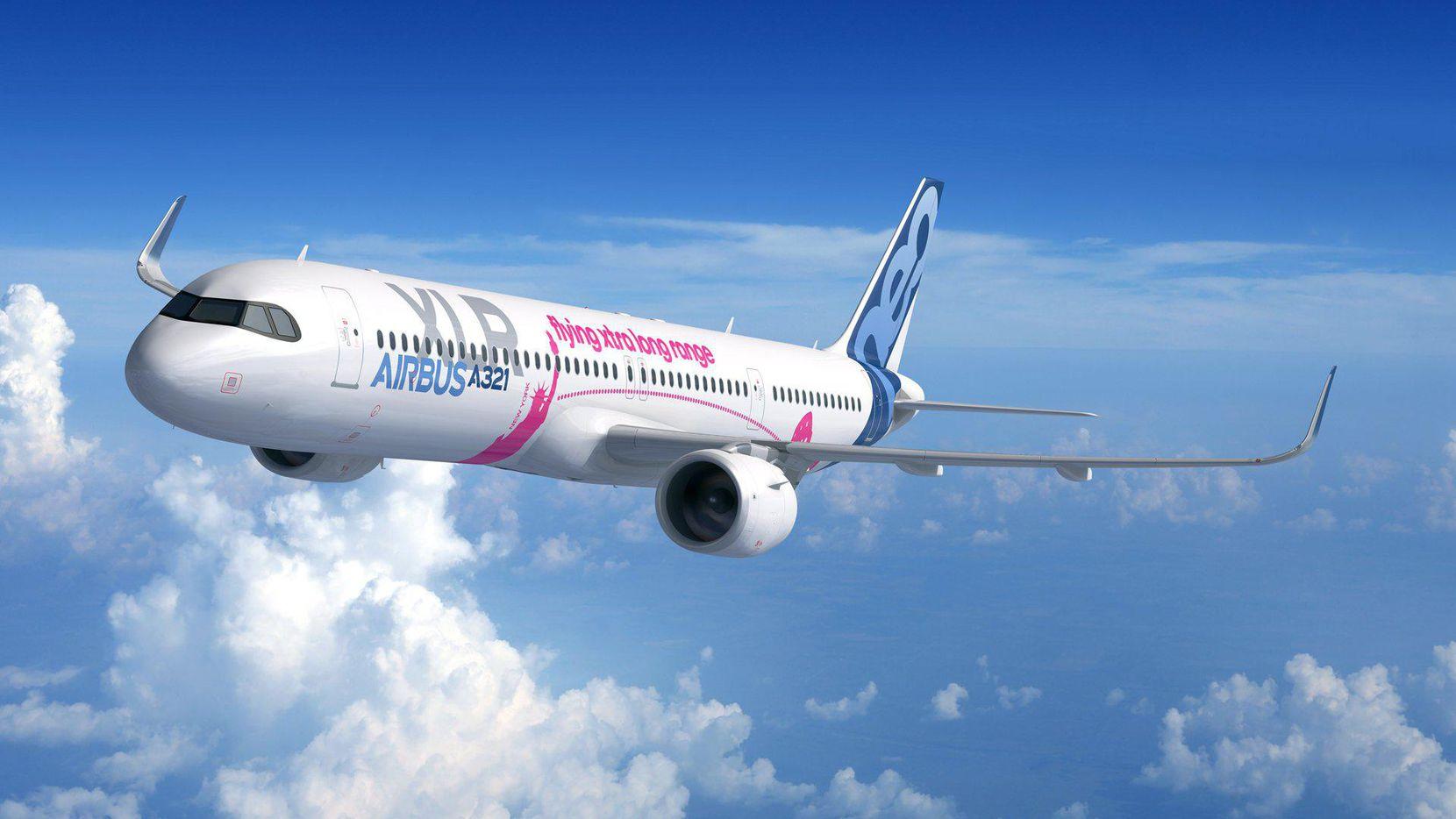 El modelo A321XLR de Airbus.(CORTESIA: AIRBUS)