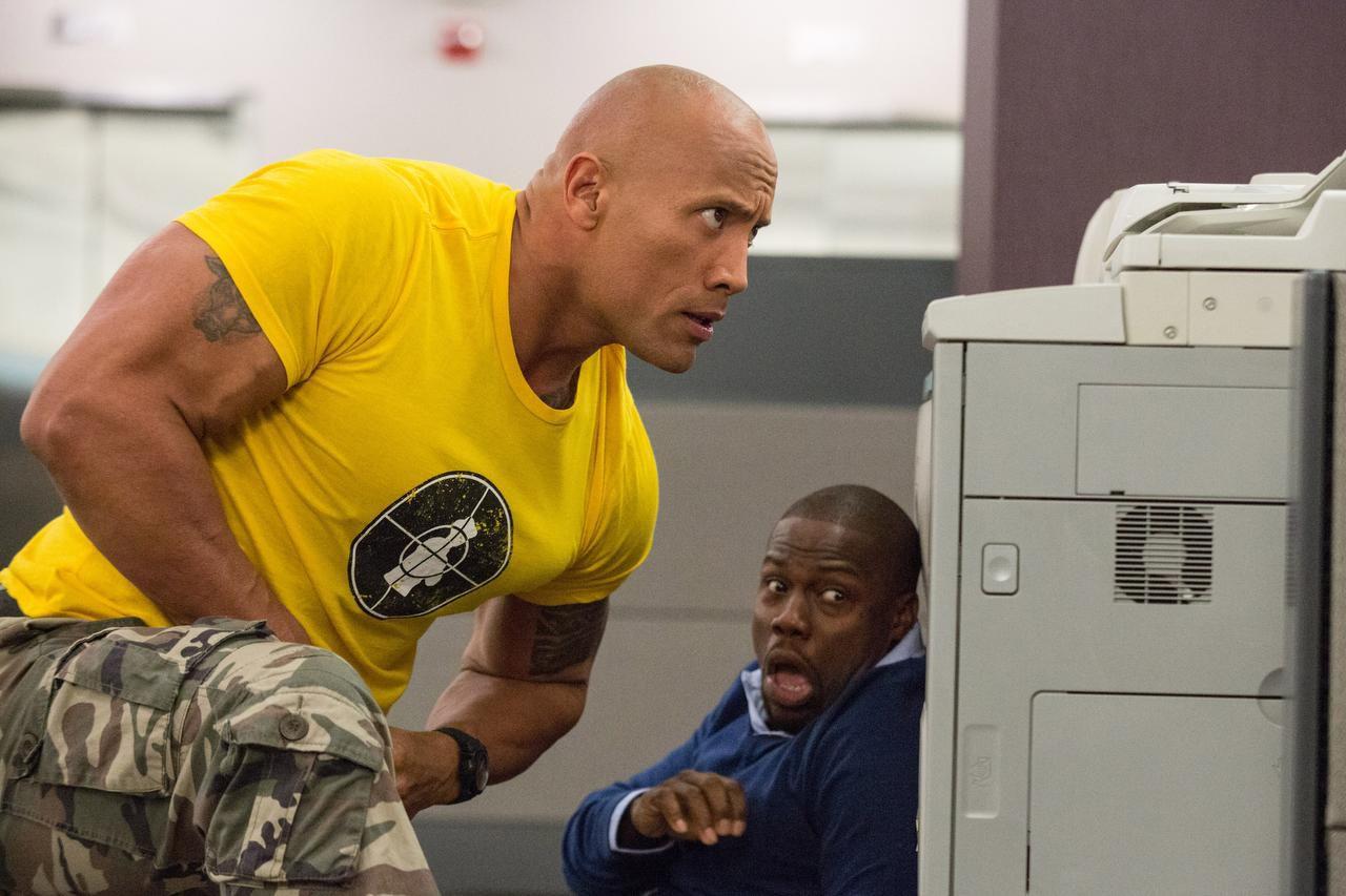 "Dwayne Johnson y Kevin Hart protagonizan ""Central Intelligence"" (AP/CLAIRE FOLGER)"