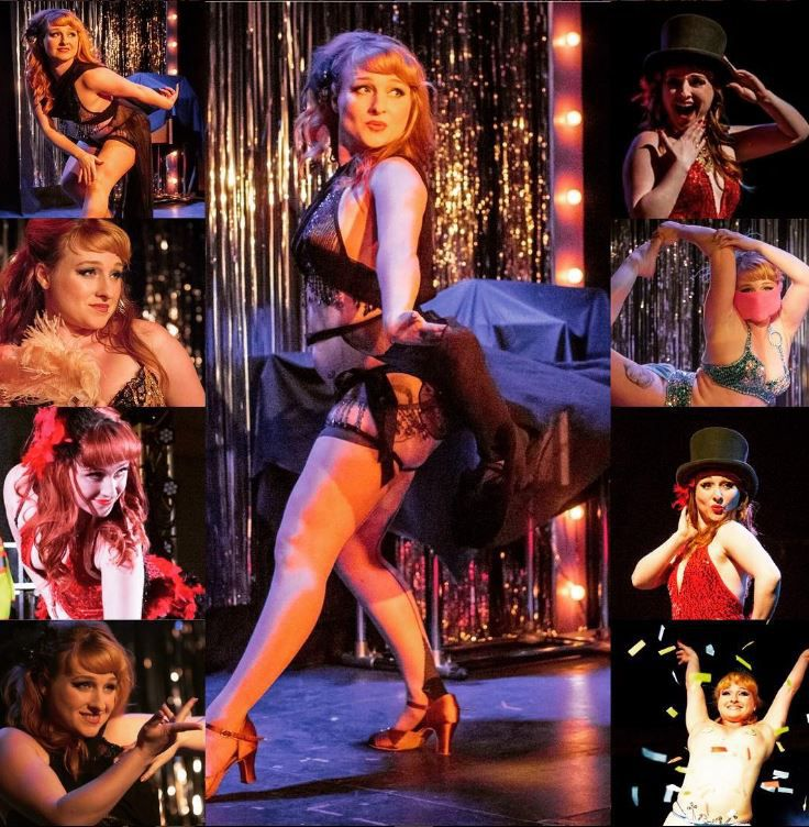 Burlesque performers at Confetti Eddie's Magic Parlor