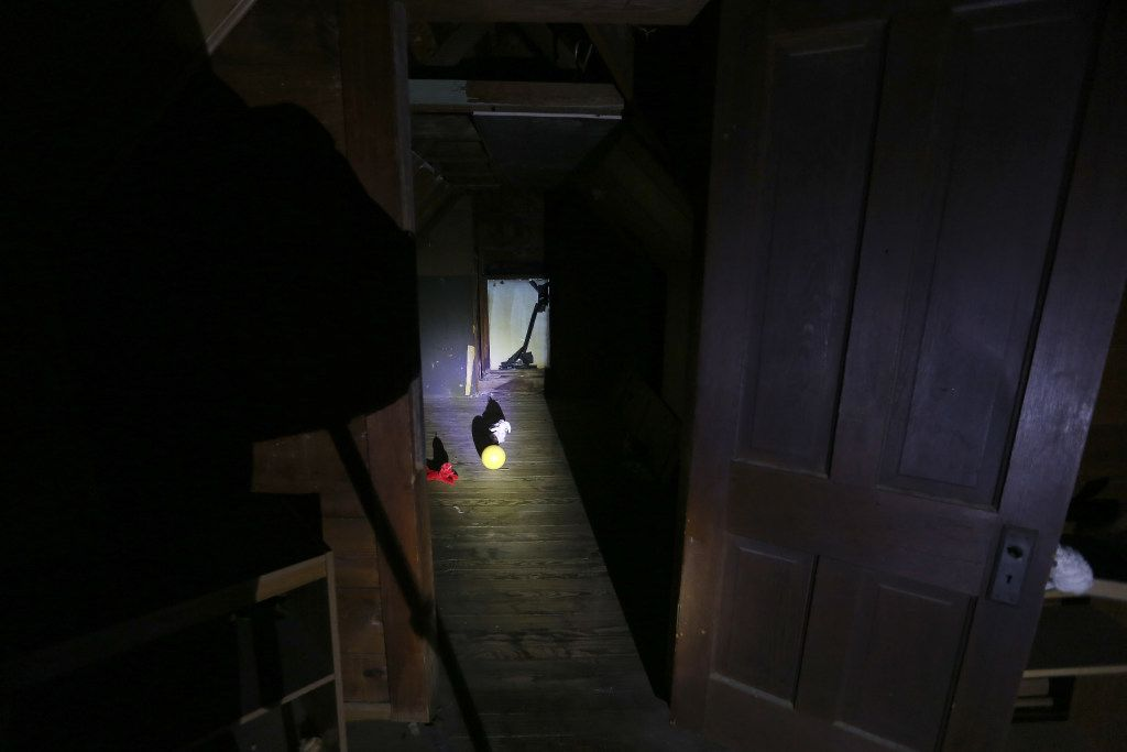 The doorway leading to Madeleine's room inside the Haunted Hill House in Mineral Wells, Texas on Friday, May 12, 2017. (Rose Baca/The Dallas Morning News)