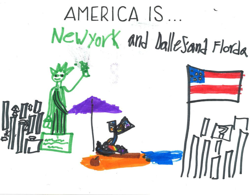 "Caroline, 8, thinks of New York, Dallas and Florida when she hears ""America Is."""