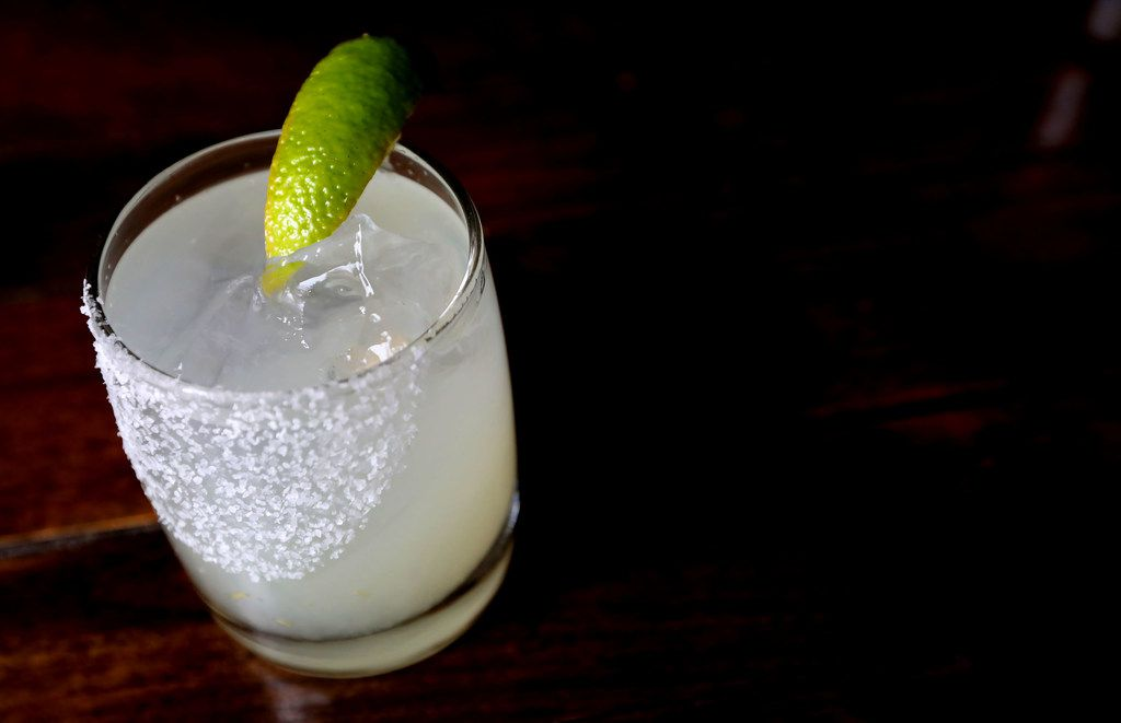 Mexican Sugar's Classic Margarita with blanco tequila, lime and Combier