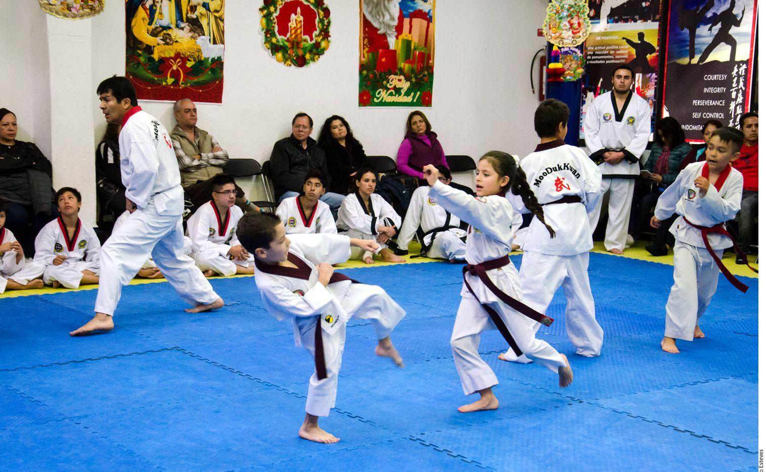 La tolerancia y la no violencia es uno de los valores que promueve el taekwondo. AGENCIA REFORMA