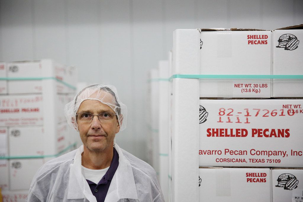 John Hutchens, operations manager, stands for a portrait inside Navarro Pecan Company in Corsicana, Texas Friday October 27, 2017. Navarro Pecan Company is one of the largest pecan producers in the world and was founded in 1977. The pecan is the only commercially produced nut that is native to America. Navarro only uses pecans grown in America. (Andy Jacobsohn/The Dallas Morning News)