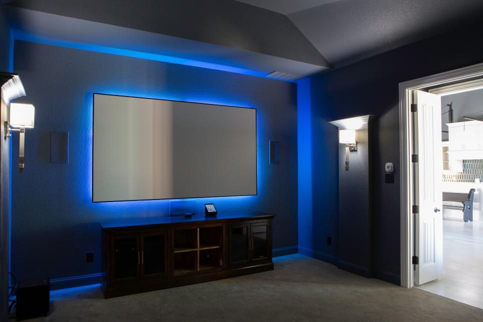 HGTV's 2019 Smart Home in Roanoke, Texas, has a media room.