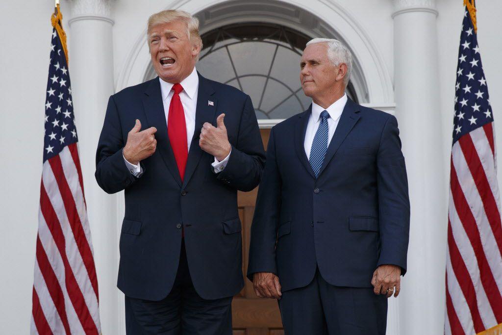 Donald Trump junto al vice presidente Mike Pence/AP
