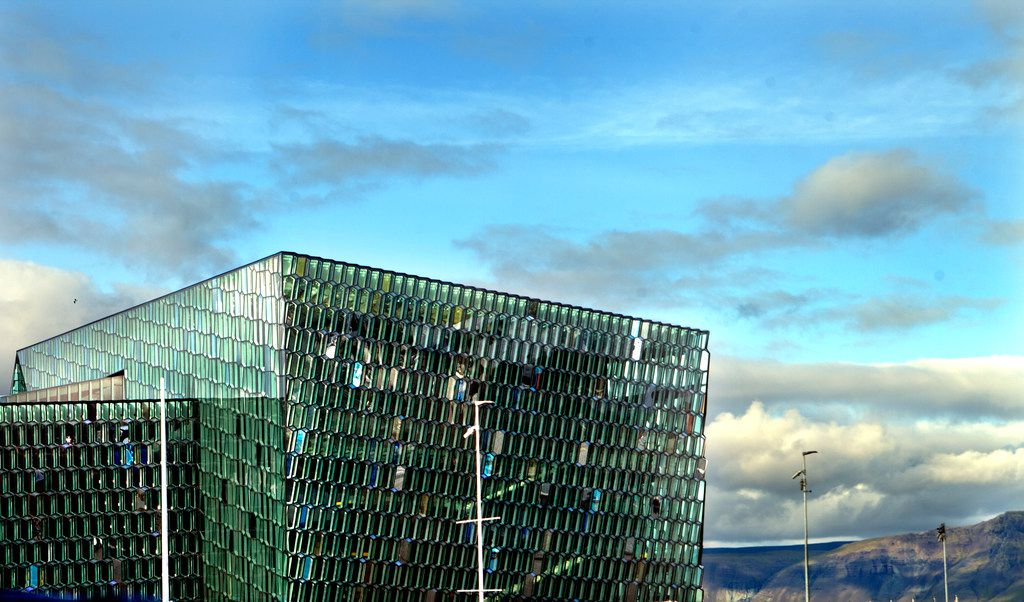 Harpa (concert hall), Reykjavík, Iceland, designed by the Danish firm Henning Larsen Architects in co-operation with Danish-Icelandic artist Olafur Eliasson.