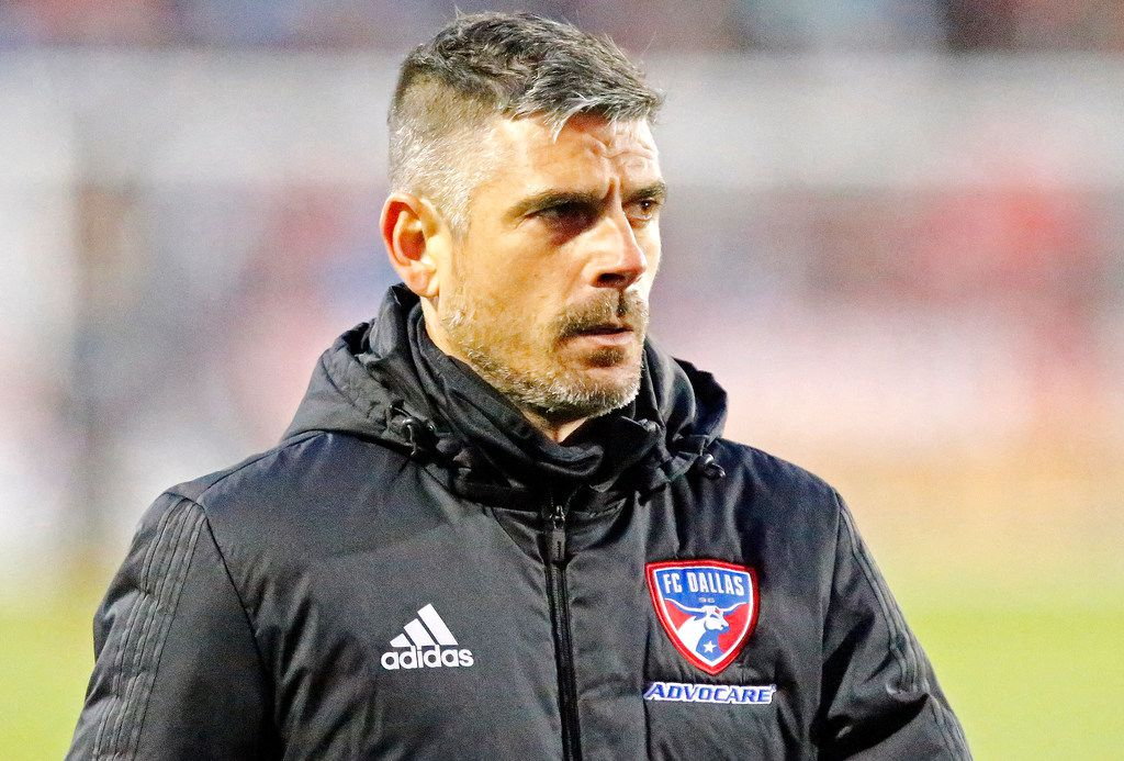 FC Dallas head coach Luchi Gonzalez heads for the locker room at the end of the first half as FC Dallas hosted the Portland Timbers at Toyota Stadium in Frisco on Saturday, April 13, 2019.  (Stewart F. House/Special Contributor)
