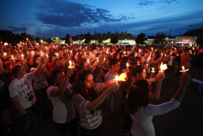 Teens in North Carolina mourned a peer who took his own life.