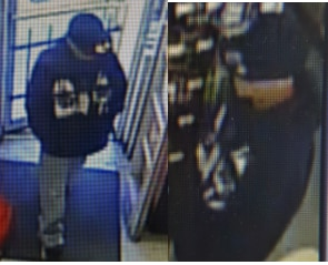 This grainy image shows a man wanted in connection with an aggravated robbery of a Family Dollar Store in West Dallas.