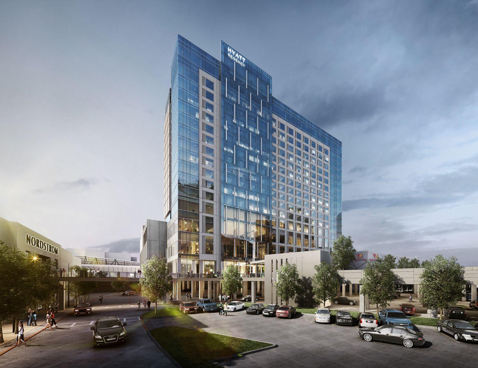 Sam Moon Group is building a 17-story Hyatt Regency Hotel at Frisco's Stonebriar Center shopping mall.