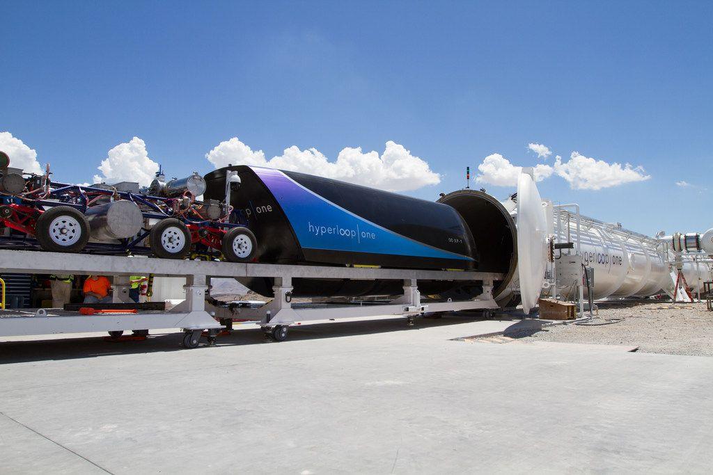 Virgin Hyperloop One has a test track in the Nevada desert.