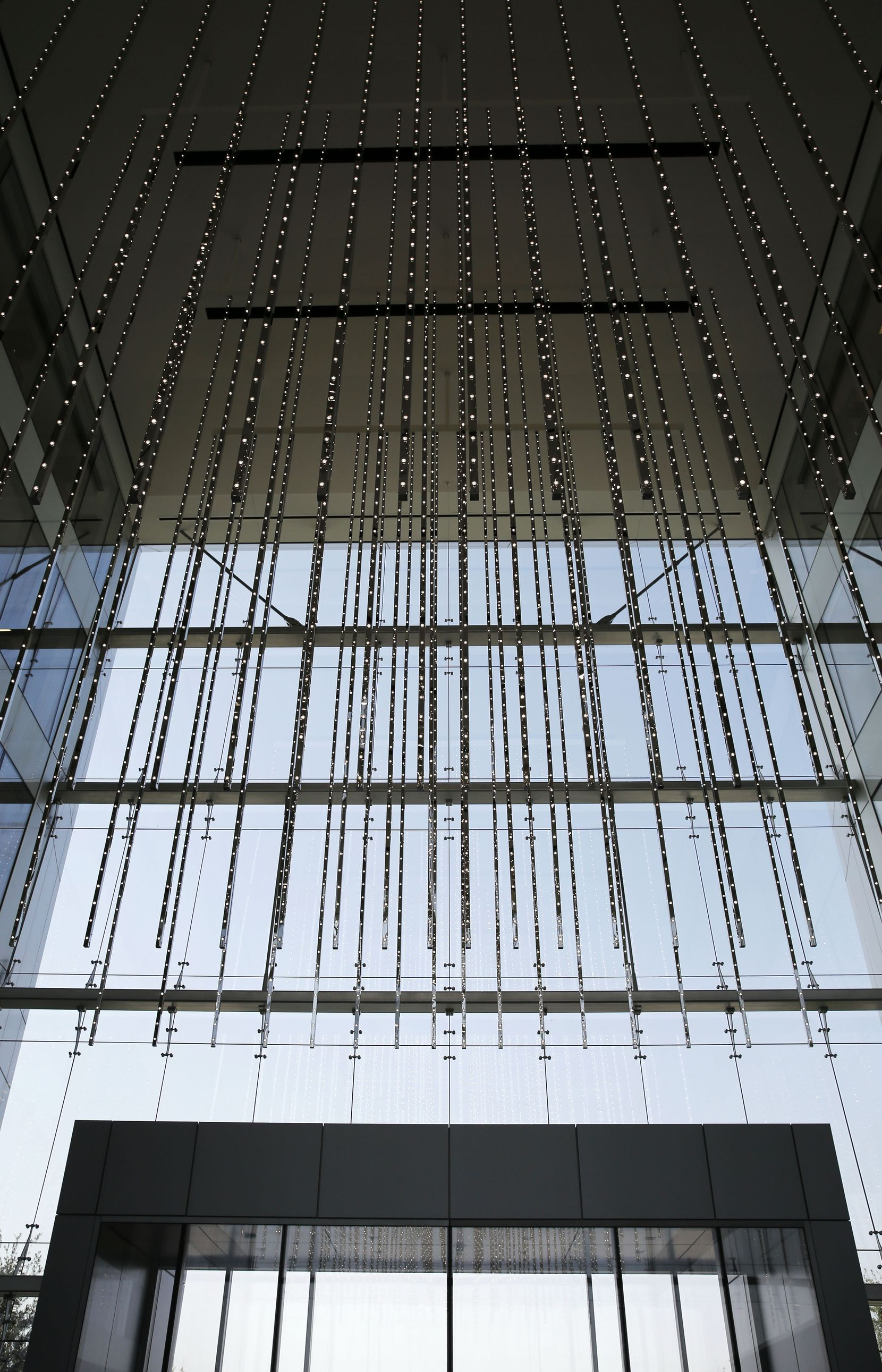 Volume Frisco (2016), by Leo Villareal, an art installation that is a volumetric LED display, in the Dallas Cowboys headquarters lobby at The Star in Frisco.