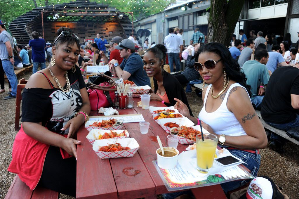 Chicken Scratch's courtyard gets a dose of crawfish at the Salute to King Creole Crawfish Festival.