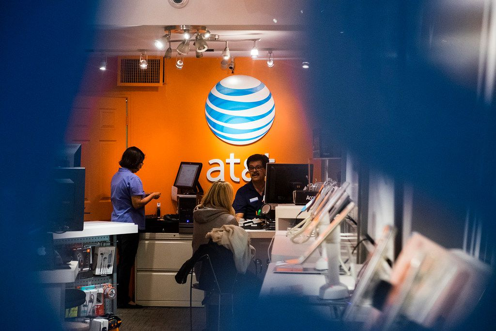 An AT&T store in New York, Oct. 27, 2016.