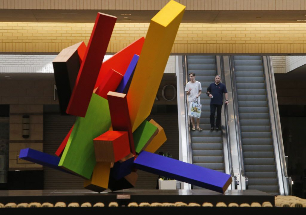 """""""20 Elements"""" (2004-05) by Joel Shapiro is pictured at NorthPark Center in Dallas on Thursday, August 13, 2015."""