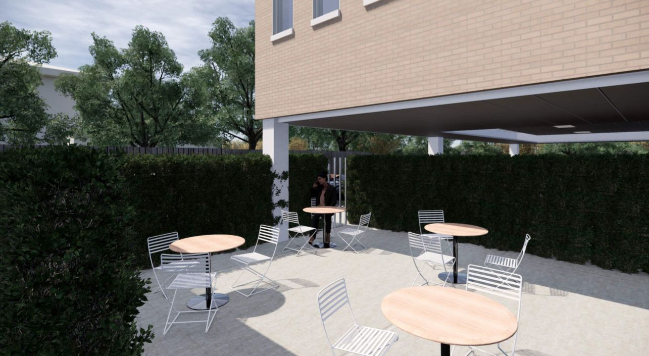 A new outdoor courtyard area will be constructed.