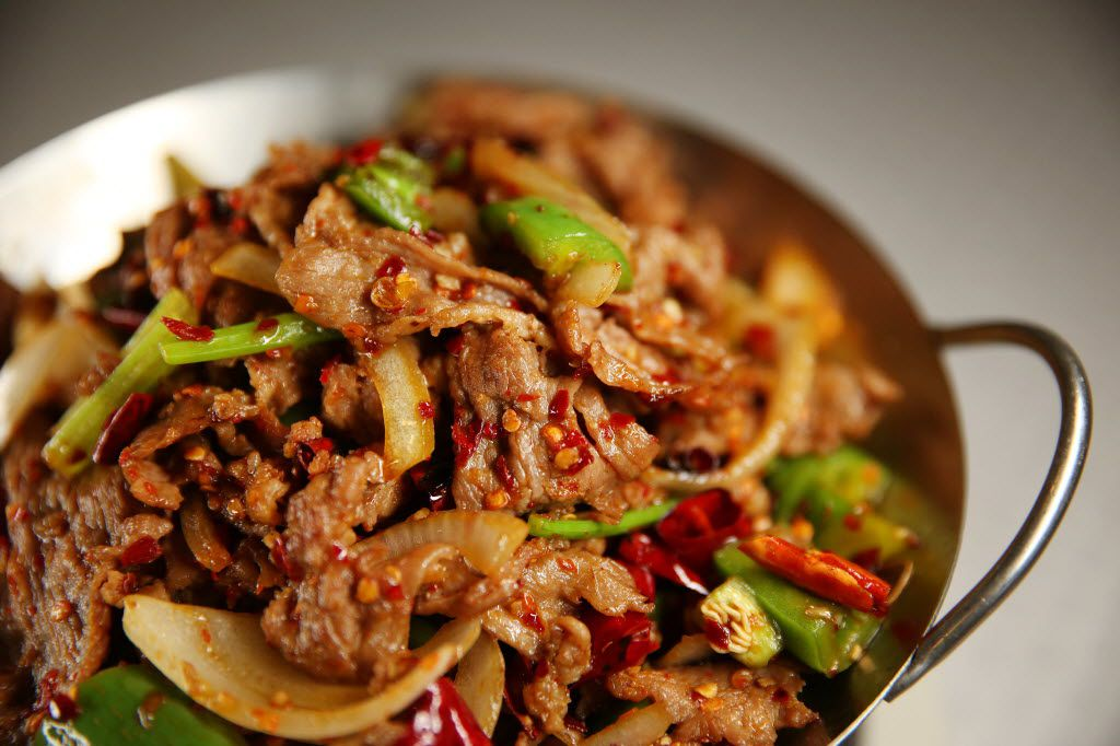 Fish House Family Cuisine's lamb dried pot. The Sichuan restaurant opened in Plano in 2014.