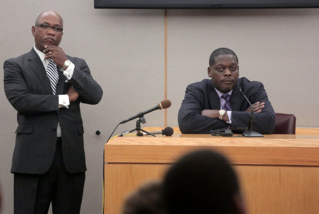 Former Dallas County District Attorney Craig Watkins appeared at a March 2013 hearing looking at allegations of prosecutorial misconduct against him.