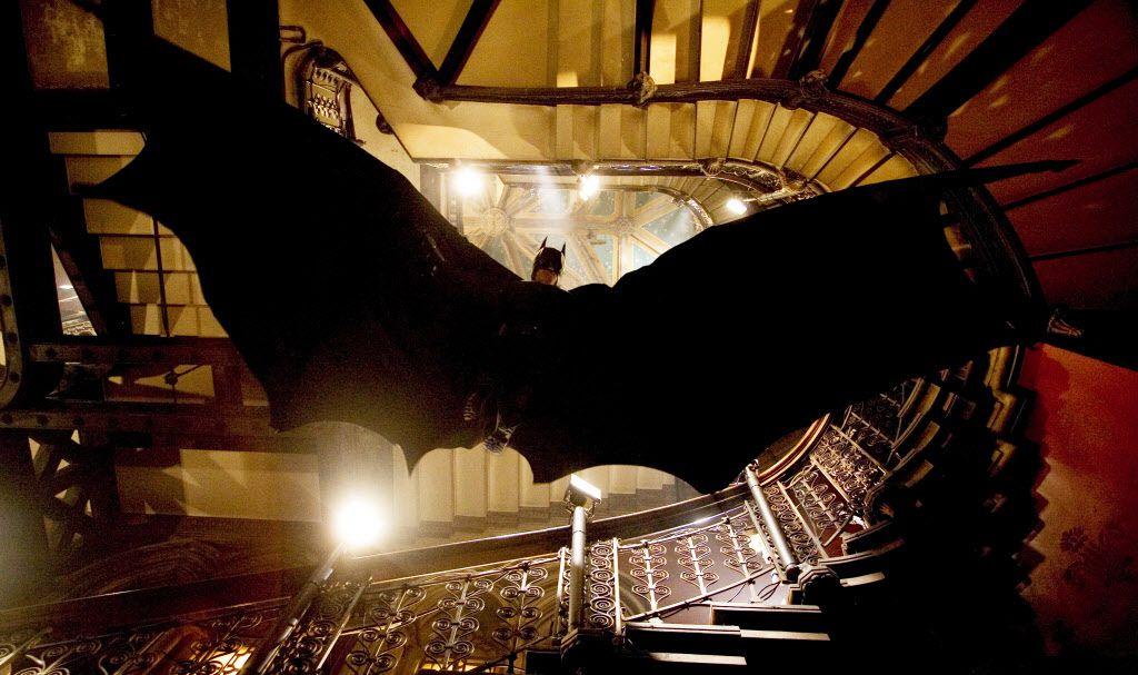 "Christian Bale stars as Batman in Warner Bros. Pictures' action adventure ""Batman Begins."""