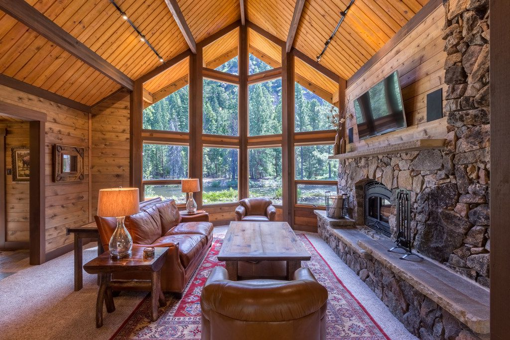 Guests at the Triple Creek Ranch in Montana stay in 25 log cabins, combining modern comforts with Western style.