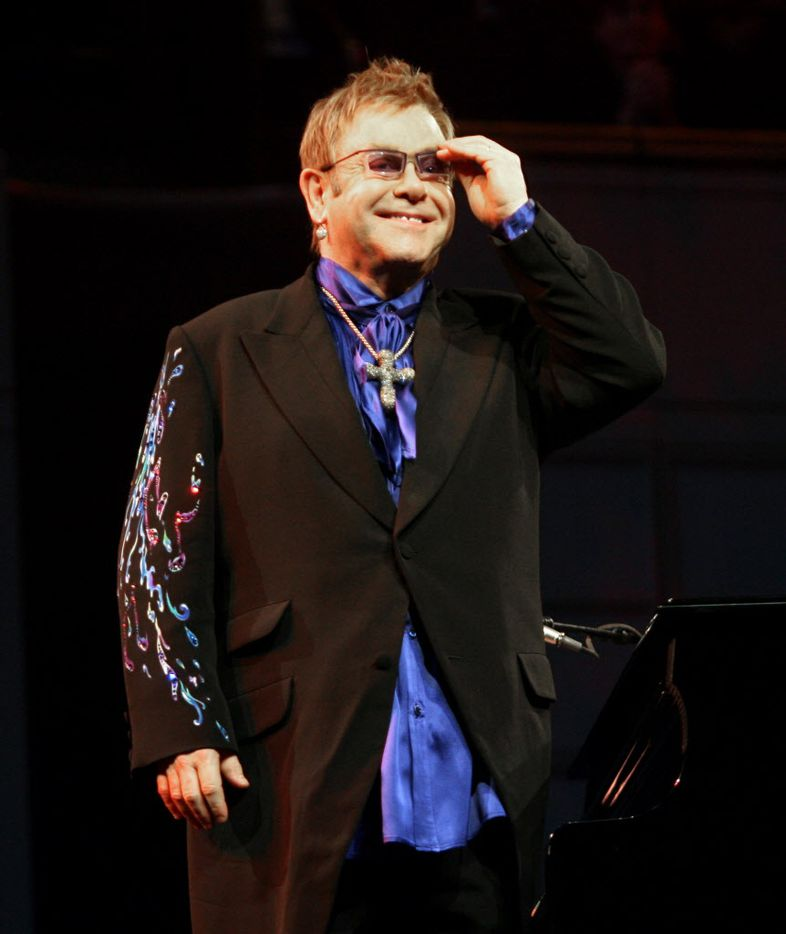 October 25, 2006: Elton John takes applause from the crowd during his performance at the Meyerson Symphony Center.