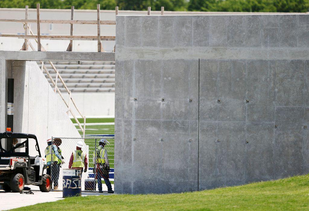Work continued Friday on McKinney ISD Stadium (Vernon Bryant/Staff Photographer)