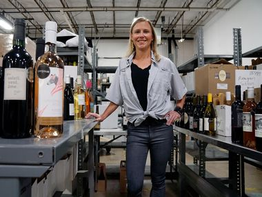 Scout and Cellar owner Sarah Shadonix at her warehouse in Farmers Branch on Aug. 29, 2019.