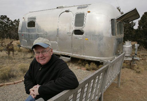 """Scott Burns paid $5,900 for a 1971 Airstream travel trailer in 2005, and he and his wife set off for the """"Lifestyle of the Neither Rich nor Famous."""""""