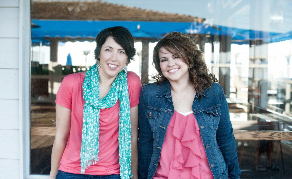 Christina Hobbs (right) and Lauren Billings form the writing duo known as Christina Lauren.