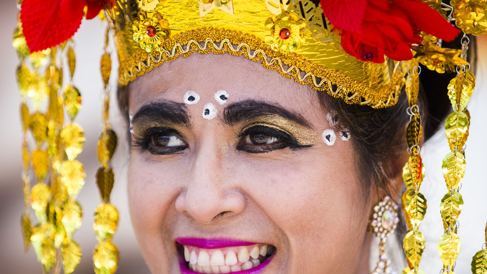Lina Barrryhill wears traditional Indonesian clothing during the 27th Home Depot Asian Festival on Saturday, May 13, 2017 at Cotton Bowl Plaza in Dallas Fair Park.