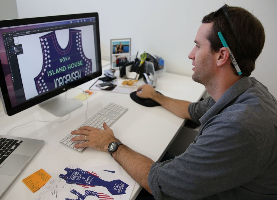Mark Stephens, vice president of product development at Roka designs gear for Olympic gold-medalist triathlete Gwen Jorgensen.